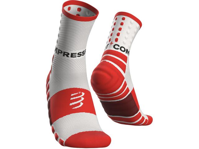 Compressport Shock Absorb Calcetines, blanco/rojo